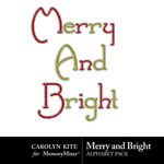 Merry And Bright Alpha Pack-$1.49 (Carolyn Kite)