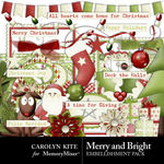 Merry And Bright CK Embellishment Pack-$3.49 (Carolyn Kite)