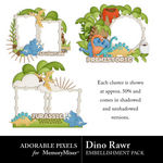 Dino Rawr Clusters-$2.49 (Adorable Pixels)