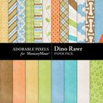 Dino Rawr Paper Pack-$3.49 (Adorable Pixels)