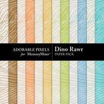 Dino Rawr Paper Pack 2-$3.49 (Adorable Pixels)