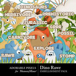 Dino Rawr Embellishment Pack-$3.49 (Adorable Pixels)