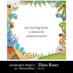 Dino Rawr Free Border-$0.00 (Adorable Pixels)
