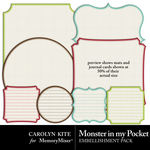 Monster In My Pocket Mats and Journal Pack-$1.80 (Carolyn Kite)