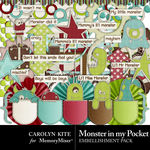 Monster In My Pocket Embellishment Pack-$2.10 (Carolyn Kite)