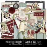 Globe Trotter Embellishment Pack-$3.49 (Adorable Pixels)