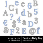 Precious Baby Boy Alpha Pack-$1.49 (Carolyn Kite)