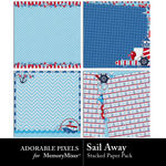Sail Away Stacked Paper Pack-$3.49 (Adorable Pixels)