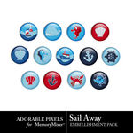 Sail Away Flairs-$2.49 (Adorable Pixels)