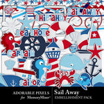 Sail Away Embellishment Pack-$3.49 (Adorable Pixels)
