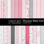 Precious Baby Girl Paper Pack-$3.49 (Carolyn Kite)