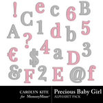 Precious Baby Girl Alpha Pack-$1.49 (Carolyn Kite)