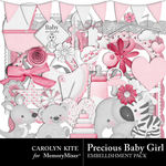 Precious Baby Girl Embellishment Pack-$3.49 (Carolyn Kite)
