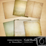 Gold Rush Paper Pack-$2.99 (Indigo Designs)