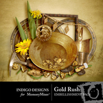 Gold Rush Embellishment Pack-$2.99 (Indigo Designs)
