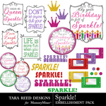 Sparkle Embellishment Pack-$2.99 (Tara Reed Designs)