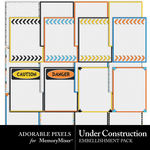 Under Construction Journal Cards-$2.49 (Adorable Pixels)