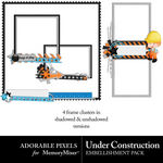 Under Construction Clusters-$2.49 (Adorable Pixels)
