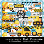 Under Construction Embellishment Pack-$3.49 (Adorable Pixels)
