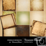 Treasure Hunter Paper Pack-$2.99 (Indigo Designs)