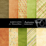 Autumn Spice Paper Pack-$4.00 (Karen Lewis)