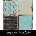 Robot Nation Stacked Paper Pack-$3.49 (Carolyn Kite)