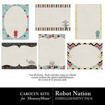 Robot Nation Journal Cards-$2.49 (Carolyn Kite)
