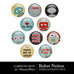 Robot Nation Flair Pack-$2.49 (Carolyn Kite)