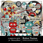 Robot Nation Embellishment Pack-$3.49 (Carolyn Kite)