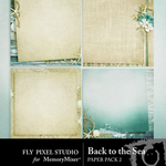 Back To the Sea Paper Pack 2-$3.49 (Fly Pixel Studio)