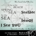 Back To The Sea Word Art-$1.25 (Fly Pixel Studio)