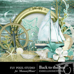 Back To The Sea Embellishment Pack-$1.50 (Fly Pixel Studio)