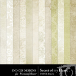 Secret Of My Heart Paper Pack-$2.99 (Indigo Designs)