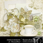 Secret Of My Heart Embellishment Pack-$2.99 (Indigo Designs)