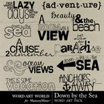 Down By The Sea Word Art-$1.25 (Word Art World)