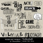 Volleyball Word Art-$2.49 (Word Art World)