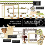 Autumn Spice Embellishment Pack-$2.99 (Karen Lewis)