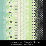 Simply Green Paper Pack-$3.49 (Lindsay Jane)