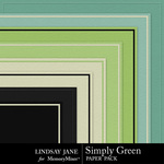 Simply Green Embossed Paper Pack-$1.99 (Lindsay Jane)