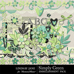 Simply Green Embellishment Pack-$3.49 (Lindsay Jane)