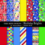 Birthday Brights Paper Pack-$2.99 (Tara Reed Designs)