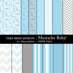 Mustache Baby Paper Pack-$2.99 (Tara Reed Designs)