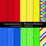 Primary Patterns Paper Pack-$2.99 (Tara Reed Designs)