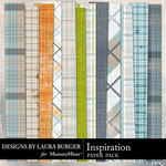 Inspiration Plaid Paper Pack-$3.49 (Laura Burger)