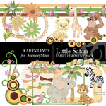 Little Safari Embellishment Pack-$4.00 (Karen Lewis)