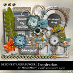 Inspiration Embellishment Pack-$3.49 (Laura Burger)