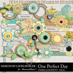 One Perfect Day Embellishment Pack-$3.49 (Laura Burger)