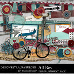 All Boy Embellishment Pack-$3.49 (Laura Burger)