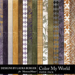 Color My World Paper Pack-$3.49 (Laura Burger)