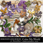 Color My World Embellishment Pack-$3.49 (Laura Burger)